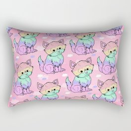 Rainbow Cats Rectangular Pillow
