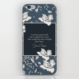 I can bear pain myself but I couldna bear yours... Jamie Fraser iPhone Skin