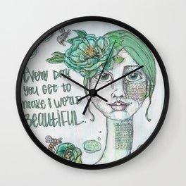 Make the World Beautiful Wall Clock