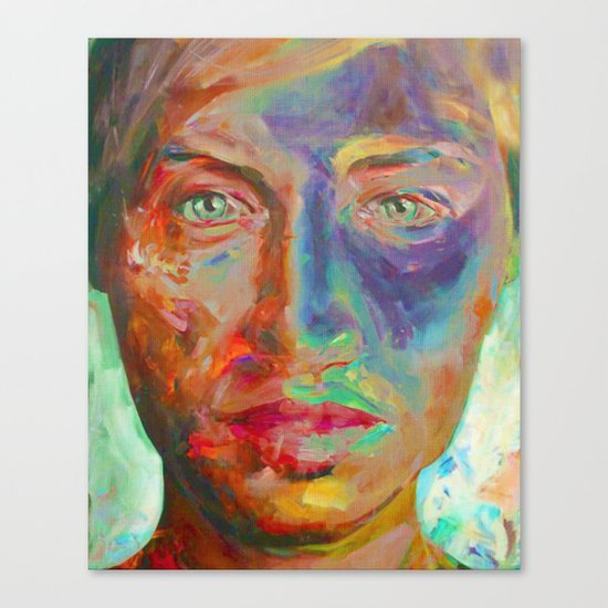 Face in Saturated Color's Canvas Print