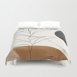 Abstract Art /Minimal Plant Duvet Cover