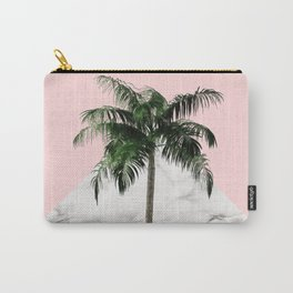 Palm Tree on Pink and Marble Wall Carry-All Pouch
