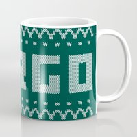 sweater Mugs featuring Fargo Sweater by Mandrie