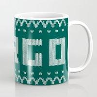 fargo Mugs featuring Fargo Sweater by Mandrie