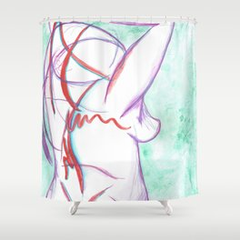 Pain Creeps In Shower Curtain
