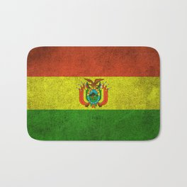 Old and Worn Distressed Vintage Flag of Bolivia Bath Mat