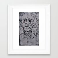 edgar allen poe Framed Art Prints featuring Edgar Allen Poe by Vrgnwitch Art
