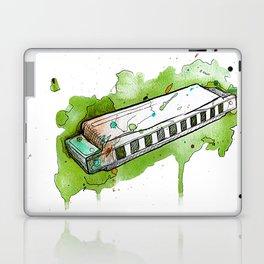 Watercolor Harmonica (Green) Laptop & iPad Skin