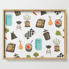 Retro Cooking Serving Tray