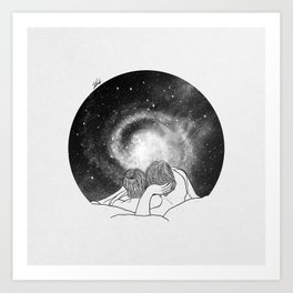 Our imaginary night. Art Print