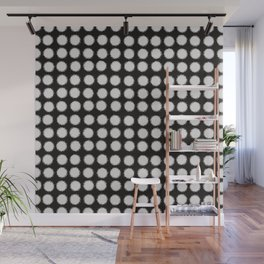 Milk Glass Polka Dots Black And White Wall Mural