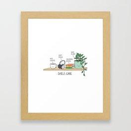 Weekend self-care Framed Art Print