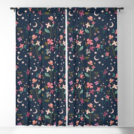 Night Blossoms Blackout Curtain