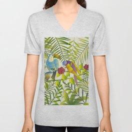 Tropical Paradise Pattern 1 Unisex V-Neck