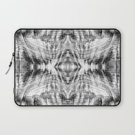 geometric symmetry pattern abstract background in black and white Laptop Sleeve