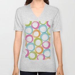 Soft pastel circles Unisex V-Neck