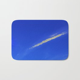 Flash of gold in the sky Bath Mat