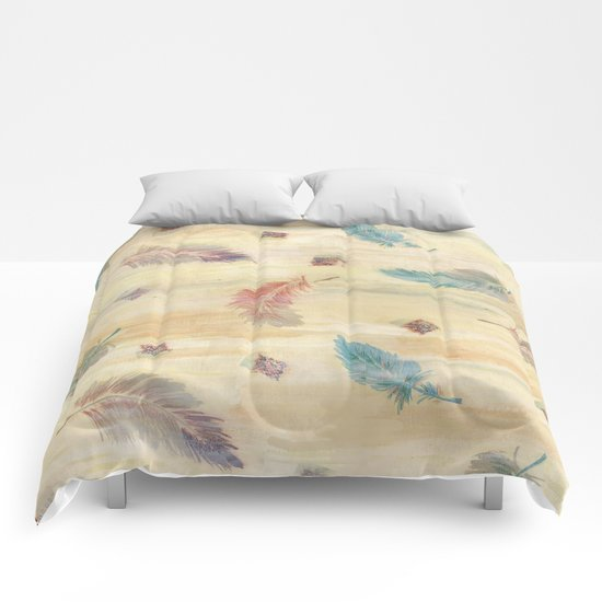feather weather Comforters