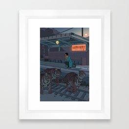 Tiger Station Framed Art Print