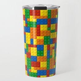 Colored Building Blocks Travel Mug