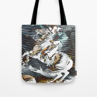 napoleon Tote Bags featuring Napoleon by FakeFred