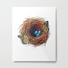 Monarch Nest  Metal Print