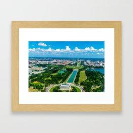 DC from Above Framed Art Print