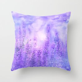 Spring Violet Flowers Throw Pillow