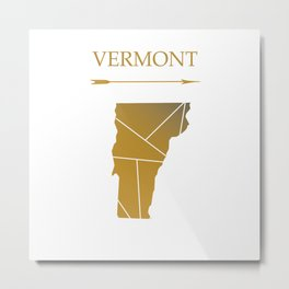 Vermont In Gold Metal Print