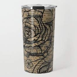 Antiqued Roses Travel Mug