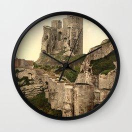 Vintage Photo-Print of Scarborough Castle (1900) Wall Clock