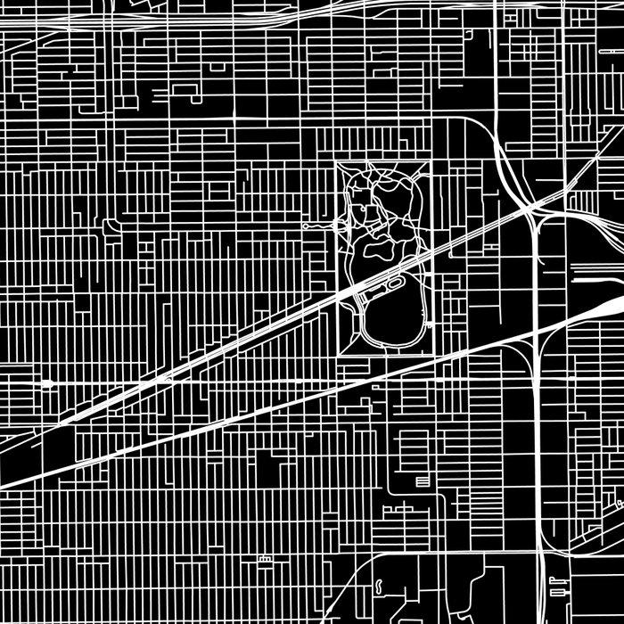 Chicago Black Map Leggings