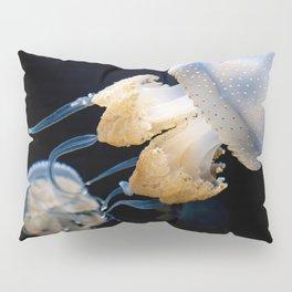 Jellyfish Swimming - Underwater Photography Pillow Sham