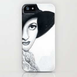 Joan Crawford, watercolour iPhone Case