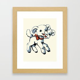 Sweet two-headed lamb Framed Art Print