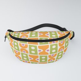 Mid Century Abstract Pattern Chartreuse & Orange Fanny Pack