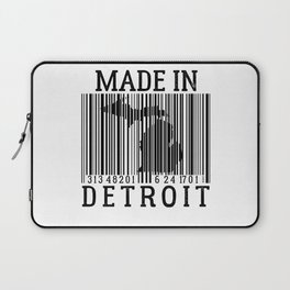 MADE IN DETROIT Bar Code Laptop Sleeve