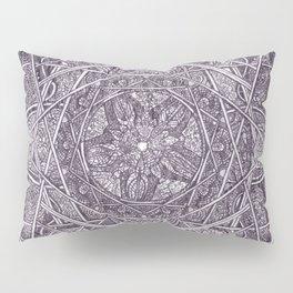 Milkweed Mandala   Purple Pillow Sham