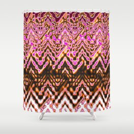 1000 Little Islands (ochre-pink) Shower Curtain