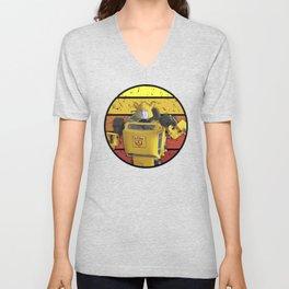 G1 - BumbleBee Vintage Sunset Unisex V-Neck