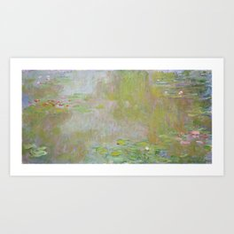Water Lily Pond by Claude Monet Art Print