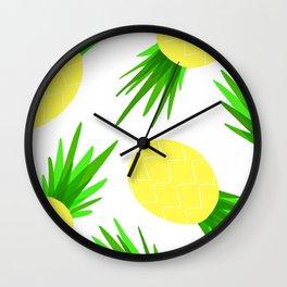 Pineapple Palooza Wall Clock