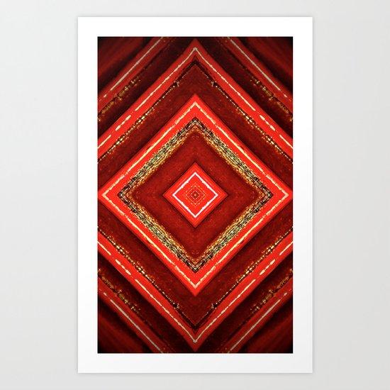 reddish colour Art Print