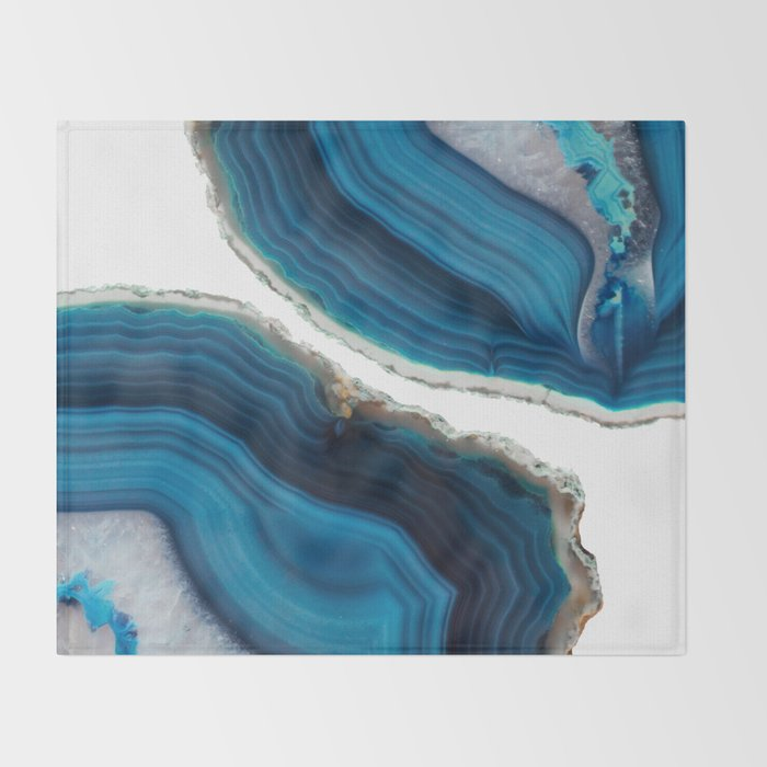 Blue Agate Throw Blanket