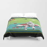 sci fi Duvet Covers featuring Sci Fi Summer Surfing by Anderssen Creative Imaging