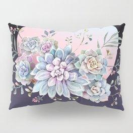Succulent full moon Pillow Sham