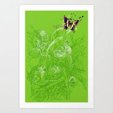 Hidden Chameleon Art Print