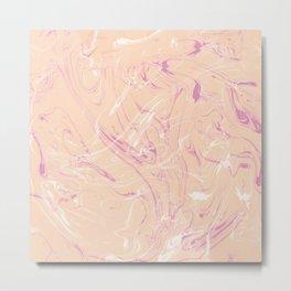 Adrift - Abstract Suminagashi Marble Series - 07 Metal Print