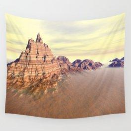 Sedimentary Mountain Range Wall Tapestry