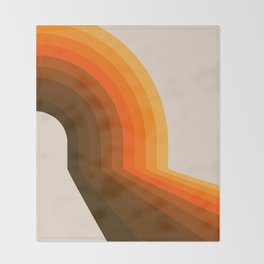 Golden Halfbow Throw Blanket
